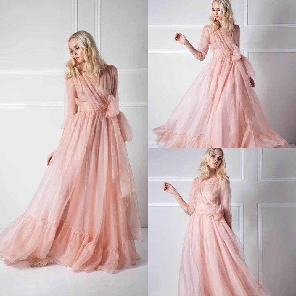 Sexy Pink Women Sleepwear Bathrobe Silk Kimono Dressing Gown Babydoll Tulle Lingerie Bath Robe Luxury