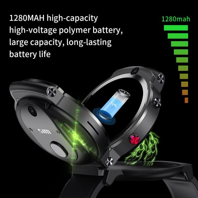 LEMFO LEM13 4G Android GPS Wifi Smart Watch Men Dual 8MP Cameras 1.6 inch Face ID 1280 mAh 3G 32G Smartwatch 3
