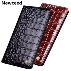 На Алиэкспресс купить чехол для смартфона high-end full grain cow-skin leather magnetic phone case for nokia x71/nokia x7 cover for nokia x6 2018 flip cover case funda