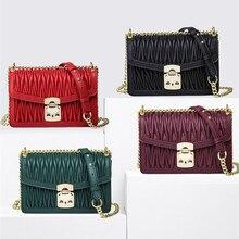5 colores nueva moda de lujo famosa Cartera de mujer de diseñador y bolsos Cadena de entramado bolsos de mensajero de hombro bolsas tipo channel