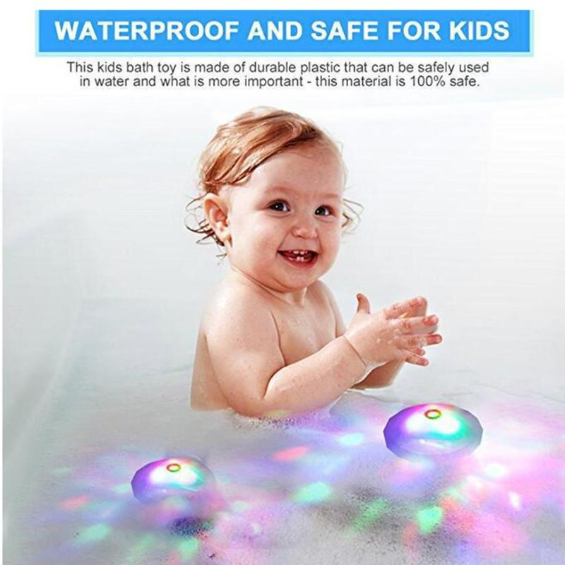 Party In The Tub Toy Bath Water LED Light Kids Children Funny Toys