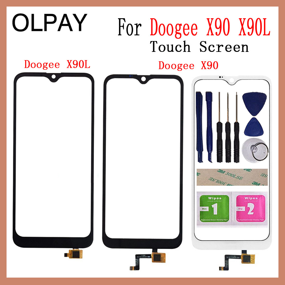 6.1'' inch 100% New For Doogee X90 Touch Screen Digitizer For Doogee X90L Touch Panel Touchscreen Sensor Front Glass Tools