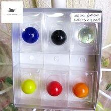 6 шт стеклянные шарики ручной работы 18 мм