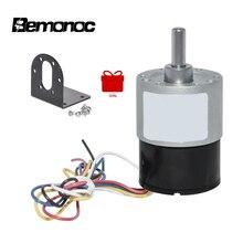 цена на BEMONOC DC Brushless Gear Motor Dia 37mm 12V 24V 10-1000RPM DC Eletric Brushless Motor Geared with Installing Bracket