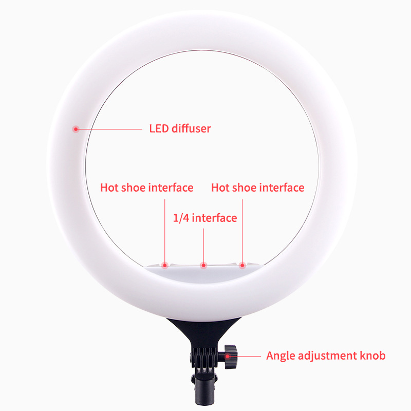 """Hb432df5ffaa84adaa0bf5afee34dc0a0R 14"""" LED Ring Light Photographic Selfie Ring Lighting with Stand for Smartphone Youtube Makeup Video Studio Tripod Ring Light"""