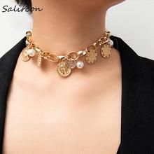 Salircon Creative Combination Necklace Alloy Trend Pendant Women Favorite Standard Matching Ethnic Gathering 2019 New