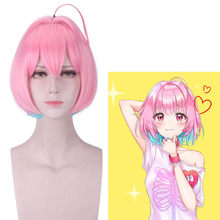 Joy&luck dolmaster Cinderella Girls Yumemi Riamu Cosplay Wigs Short Bobo Wig Synthetic Straight Wig Costume for Party Hair Style(China)