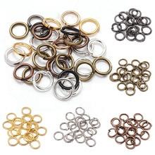 200 шт 3-16 мм золото серебро родий Металл прыгающее кольцо открытые одиночные петли Сплит Кольца поставки для DIY ювелирных изделий ручной работы аксессуары