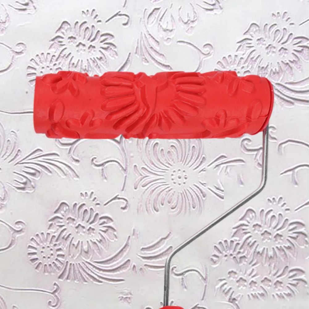 1 Pcs Timbul Roller Cat Lengan Tekstur Dinding Sikat Stensil Pola Seni Rol Dekorasi Rumah Rumah Tangga Alat Drop Pengiriman