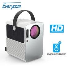 Everycom R10 LED видео мини-проектор HD 720P портативный видеопроектор Поддержка Full HD 1080P домашний кинотеатр используется в качестве Bluetooth-динамика