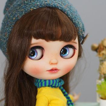Blyth Doll NBL 1/6 BJD Customized Frosted Face,big eyes Fashion girl makeup Ball Jointed Doll Tender little cute girl 2
