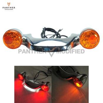 Chrome LED Rear Brake Light Turn Signal Bar case for Harley FLHX Street Road Glide 2010 2011 2012 2013 2014 2015 2016