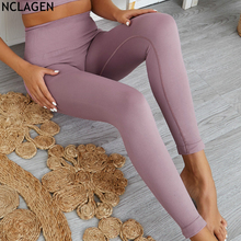 Women GYM Sport Leggings Nylon yoga pants Capris High Waist Seamless Push Up Tights Fitness Squat Proof Sports wear NCLAGEN