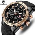 Мужские часы CHEETAH лучший бренд класса люкс кварцевые часы мужские s повседневные военные аналоговые часы мужские наручные спортивные цифро...