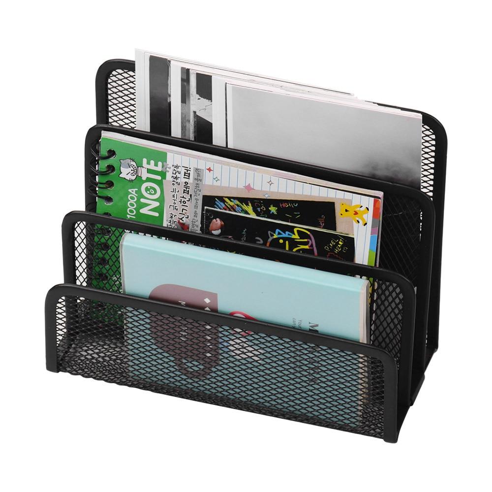 Держатель для журналов, металлическая сетка для стола, Почтовый файл, органайзер, практичный сортировщик букв, для хранения документов, для домашнего офиса, рабочего стола