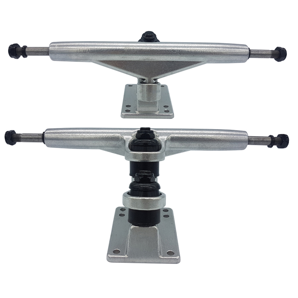 1 Pair Double Floor Longboard Trucks 7inch 180mm For Dance Downhill Skateboard 1year Quality Warranty Gravity Casting Technology