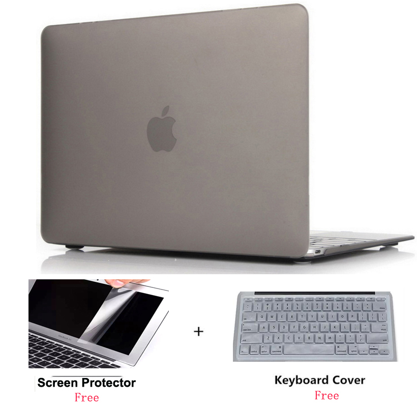 2019 New Frosted Surface Matte Laptop Hard Cover Case Protector For Macbook Air Pro With Retina Touch Bar 11 12 13 15 15.4 Inch