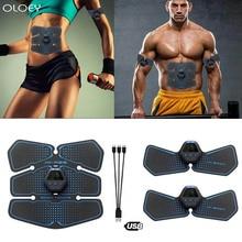 USB на животе мышцы тренер стимулятор электростимулятор ЭМС мышц Тонер фитнес-центр беспроводной вибрации тела для похудения Фитнес оборудование