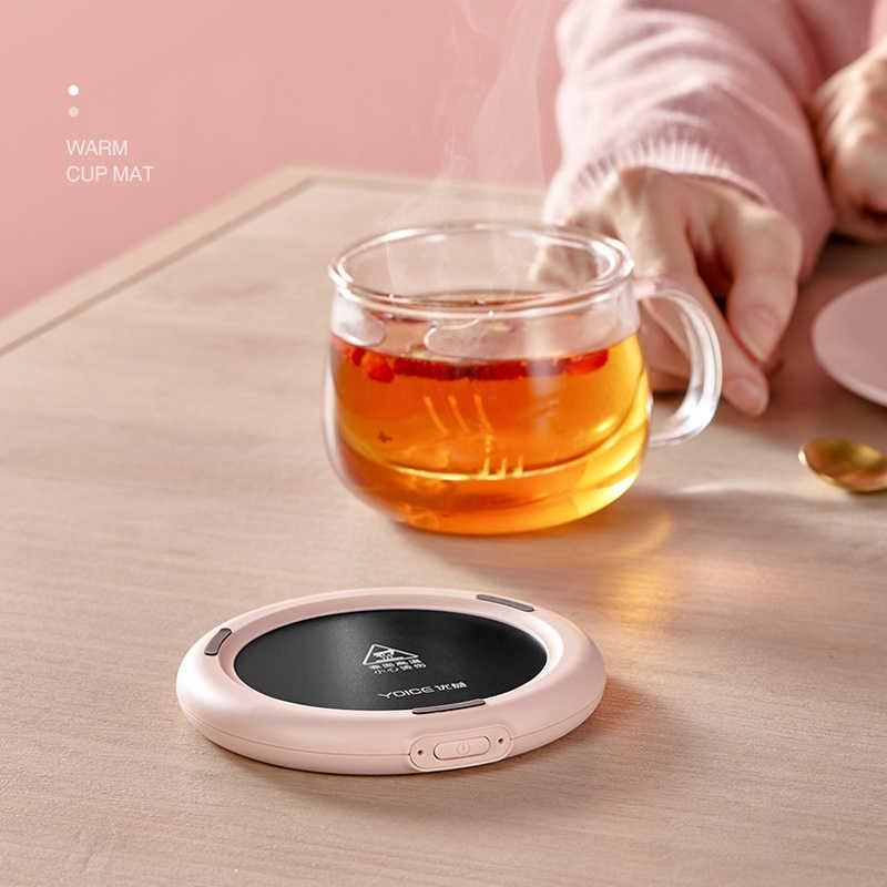 Подогреватель чашки 5 в с USB зарядкой, умный термостатический нагреватель для горячего чая, настольный нагреватель для кофе, молока, чая, теплая чашка