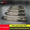 Для Mercedes G Class W463 W464 G350 G500 G55 G63 G65 наклейки из углеродного волокна для автомобиля боковой двери ручка Крышка отделка 5 дверей 2010-UP