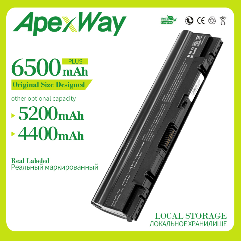 Apexway 6 cells laptop battery for Asus Eee PC1025 1025C PC1025CE 1225 1225B 1225C R052 R052C 052CE 1015CX 1011CX <font><b>1015</b></font> image
