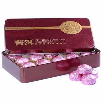 2019 Yr Lotus Leaf Mini Ripe Pu-erh Tuocha Yunnan Pu'er Gift Pack Shu Pu-erh 75g 1