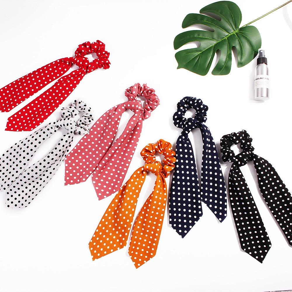 CN Hairs Accessories Floral Print Ribbon Women Hair Scarf Elastic Hair Bands Hairband Bow Hairs Rubber Ropes Scrunchie Girls in Women 39 s Hair Accessories from Apparel Accessories