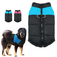 Одежда для больших собак зимнее пальто для домашних животных куртка для больших собак жилет Зимняя одежда для домашних животных наряд буль...