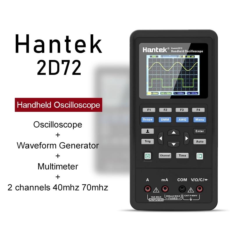 Портативный цифровой осциллограф Hantek 2D72 2D42 3in 1 Новый мультиметр тестер генератор сигналов USB Портативный 2 Каналы 70 МГц