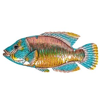 Ilustraciones de pared de peces de Metal para la decoración del jardín...