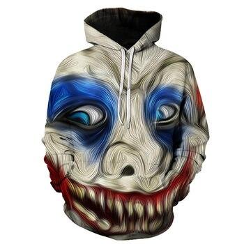цена на 3D clown hoodie Fall fashion hoodie Fashion Brand Hoodie Casual sweatshirt Coat Winter Women Hoodies Full Sleeve Men Hoodie