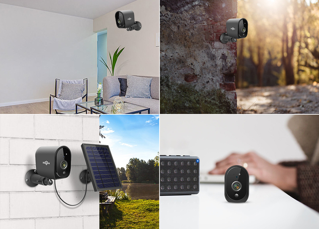 Hiseeu 1080P WIFI Battery Camera IP Outdoor Rechargeable Wireless IP Camera PIR Detect Waterproof Solar Panel Remote View 6