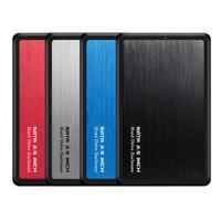 Aluminium Legierung 2 5 zoll USB 3 0 zu SATA HDD SSD Mobile Festplatte Fall 5Gbps High Speed 2TB gehäuse Tragbare USB 3 0 HDD Fall