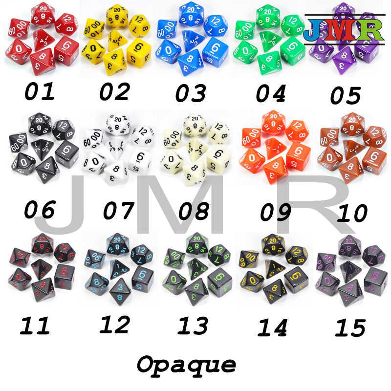Горячая Распродажа, высококачественные черные с зелеными чернилами 7 шт./лот непрозрачные кости набор D4, D6, D8, D10, D10 %, D12, D20 многогранные кости набор Dnd Rpg