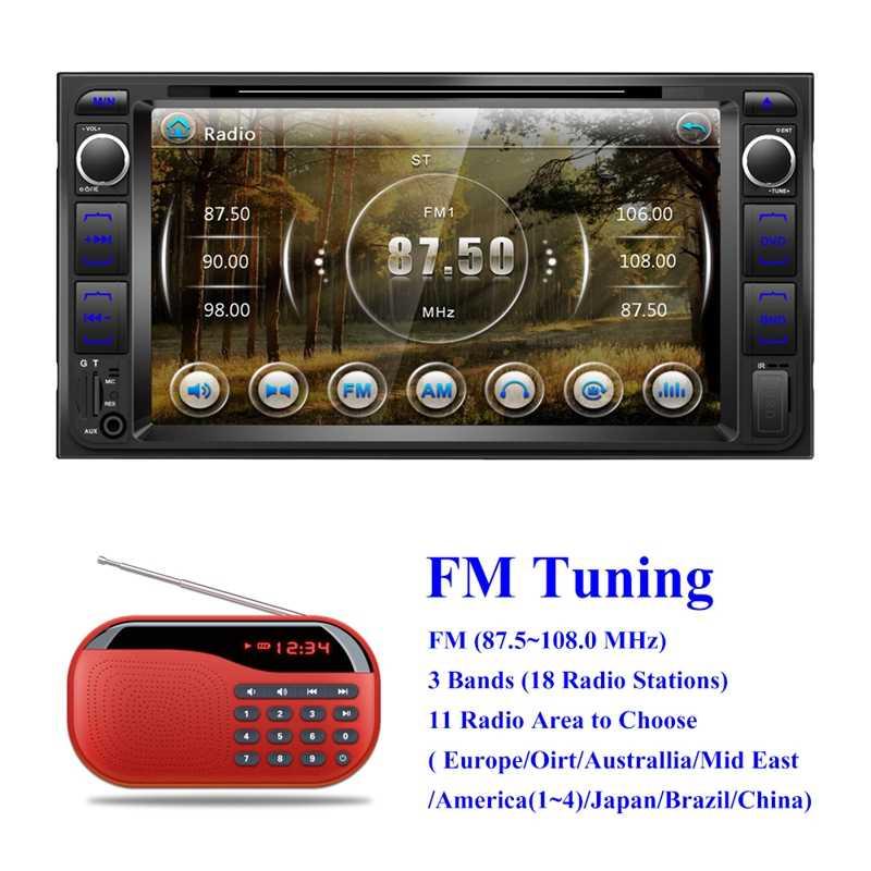 2 Din voiture lecteur Dvd 7 pouces lecteur multimédia 2Din autoradio Bluetooth Usb Mp5 Dvd Fm lecteur pour Toyota Corolla