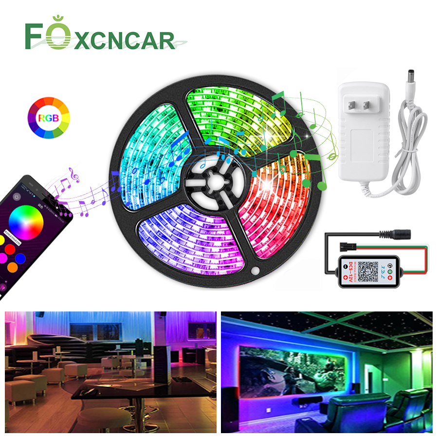 LED Strip Light Waterproof WS2812 IC 12V Programmable Individual Addressable RGB 5050SMD Dream Color Ribbon Lamp 5M TV Backlight