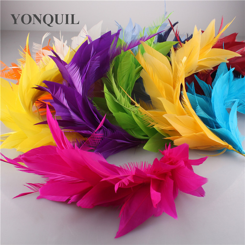 Beautiful Turkey Feather 25-30CM Wedding Corsages Feathers Craft For Headdress Wedding Bride Hats DIY Hair Accessories