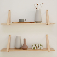 50 cm Wall Hanging Shelf Wooden Tan Office Sundries Art Storage Rack Nordic Style Home Wooden Decorative Craft Holder Racks