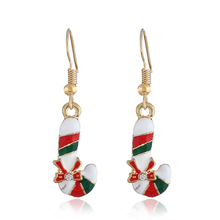Hot Creative Christmas Ornaments Dangle Earrings For Women Stylish crutch Drop jewelry for gift