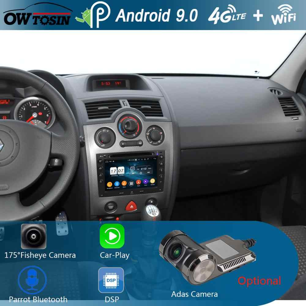 "7 ""IPS 8 Core 4G + 64G Android 9.0 Lettore DVD Dell'automobile Per Renault Megane 2 ii 2003 2004 2005 2006 2007 2008 2009 CarPlay Multimedia"