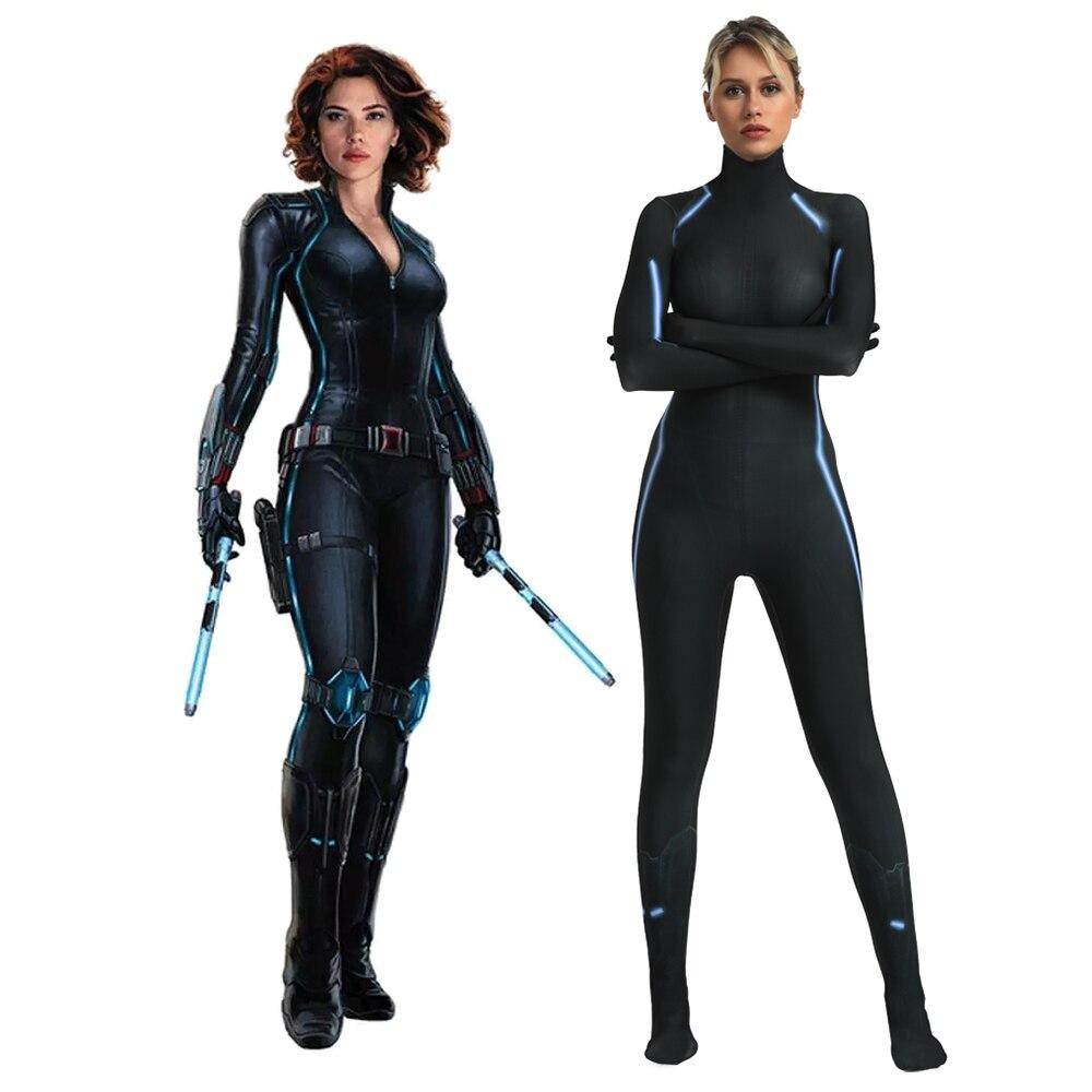 Avengers Endgame Black Widow Jumpsuit Bodysuit Morphsuit Cosplay Costume Aliexpress