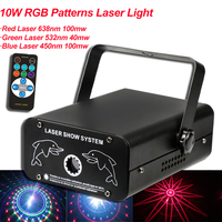 10W RGB Colorful Patterns Laser Light DMX 512 Scanner Projector Party Xmas DJ Disco Show Lights Club Music Equipment Beam Moving