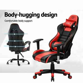 Furgle Zero-L WCG gaming chair black&red office chair ergonomic for watching movie/play game computer chair modern office chair - DISCOUNT ITEM  35% OFF All Category