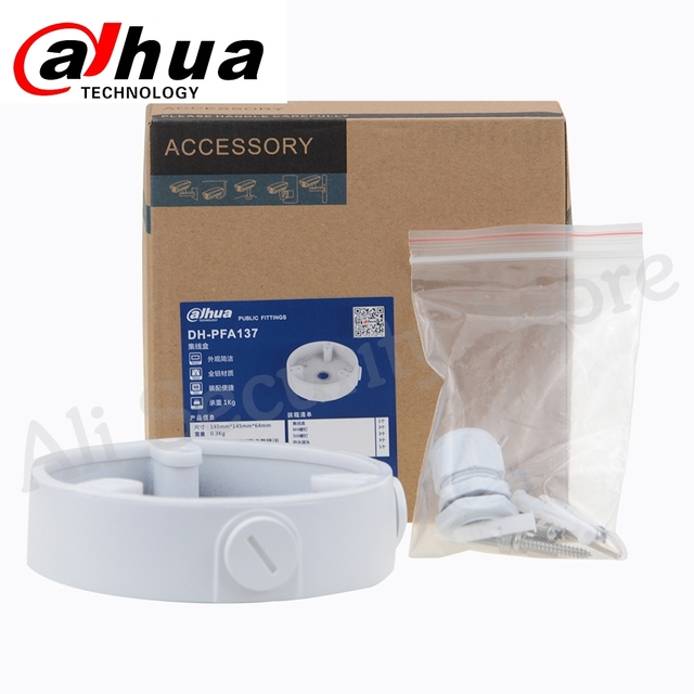 Dahua Waterproof Junction Box PFA137 For DH IP Camera IPC HDBW4431R S & IPC HDBW4431R ZS CCTV Mini Dome Camera DH PFA137