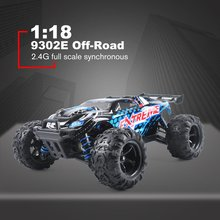 цена на 1:18 Scale 9302E Off-Road Crawler Vehicle Truck Model Toy Brushless Motor Car Remote Control Four Wheel Climber Toy