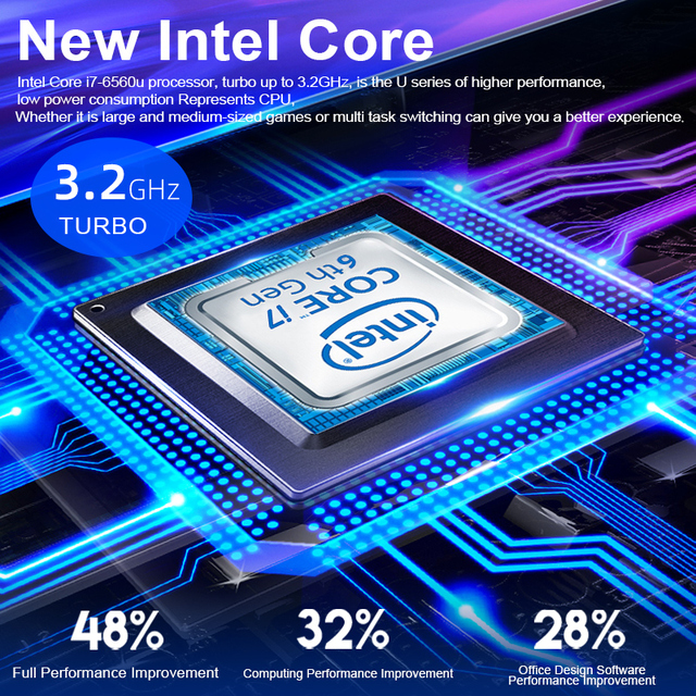 New Intel Core i7-6560U Laptop 15.6 inch 4G/ 8G / 16G DDR4 1TB 128G 256G 512G Notebook Computer Gaming Laptops Backlit Keyboard 4