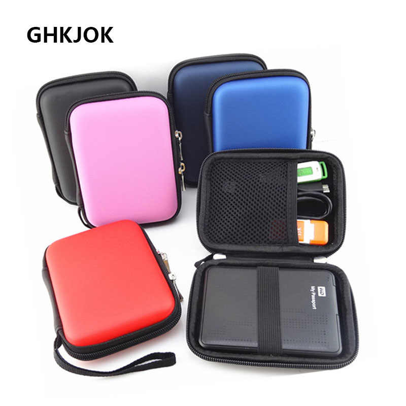 HOT EVA HDD Bag Hard Disk Case Zipper Pouch External Hard Drive Disk  Protector Cover Bag Power bank Mobile HDD EVA Storage Box