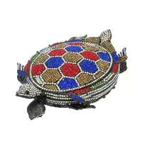 Bee In Fly Hot Sell Fashion Wedding Bridal Sea Animal Evening Bags Lady Crystal Tortoise Evening Clutches Bags Exquisite Purse