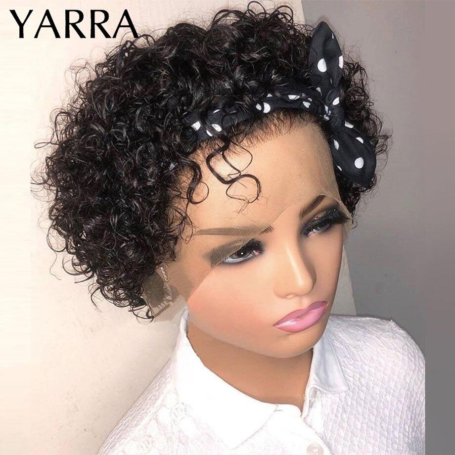 do laço curto encaracolado perucas de cabelo