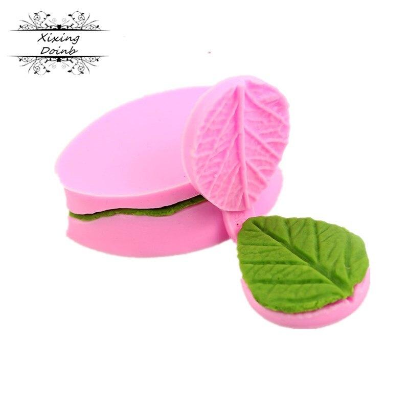 New DIY Cake Decorating Mold Double Leaf Veiner Silicone Cake Mold Sugar Art Mold Fondant Mold Fondant Cake Decorating Tools